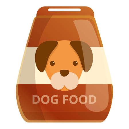Dog food package icon, cartoon style Иллюстрация