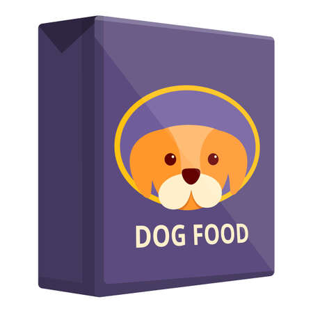 Vegetable dog food icon, cartoon style