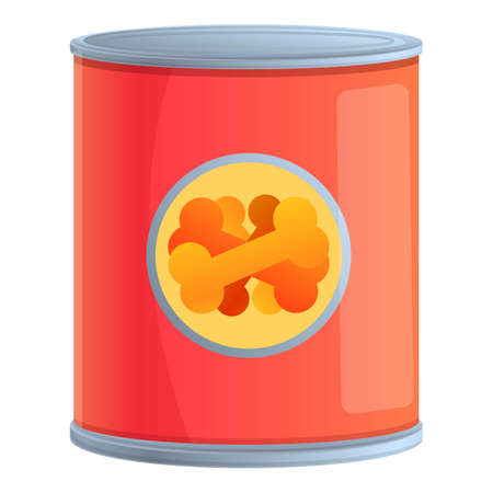 Canine dog food icon, cartoon style