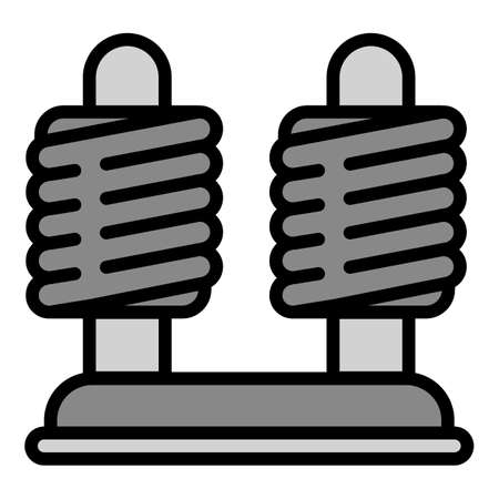 Coil stand icon, outline style Stock Photo