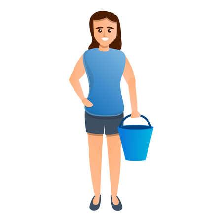 Housekeeping icon, cartoon style Zdjęcie Seryjne