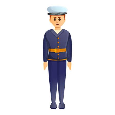 Marine soldier icon, cartoon style
