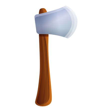 Hand axe icon, cartoon style Фото со стока