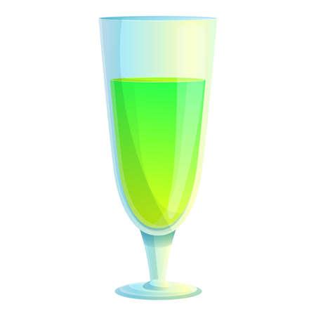 Cocktail icon, cartoon style