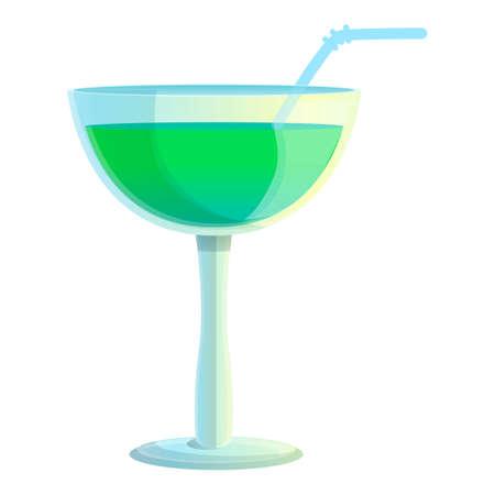 Margarita cocktail icon, cartoon style Фото со стока