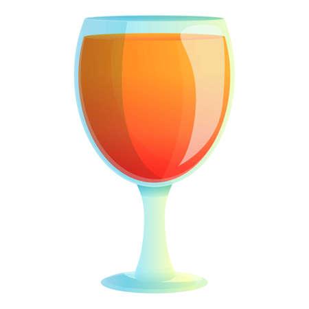 Barbados cocktail icon, cartoon style
