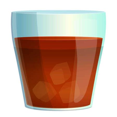 Whiskey cocktail icon, cartoon style