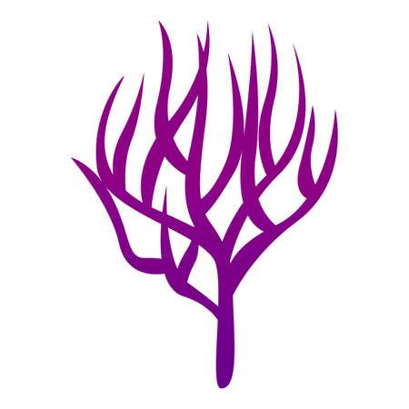 Coral icon, cartoon style