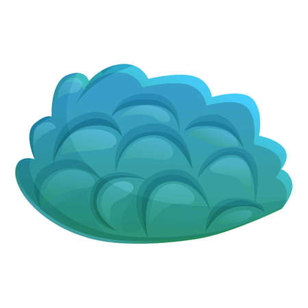 Nature coral icon, cartoon style