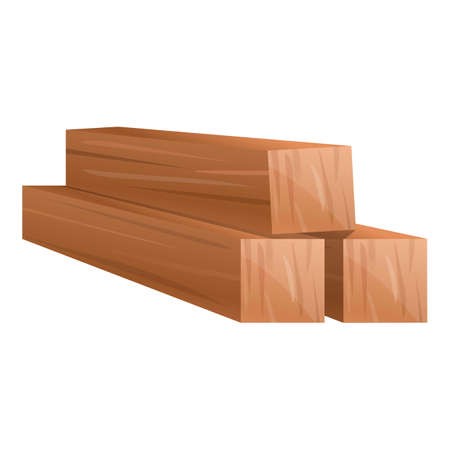 Wood bars icon, cartoon style Stock fotó