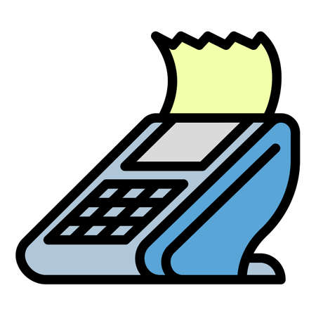 Check pay terminal icon, outline style