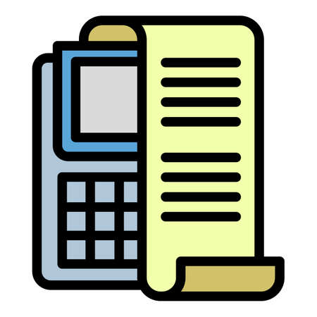 Check payment terminal icon, outline style