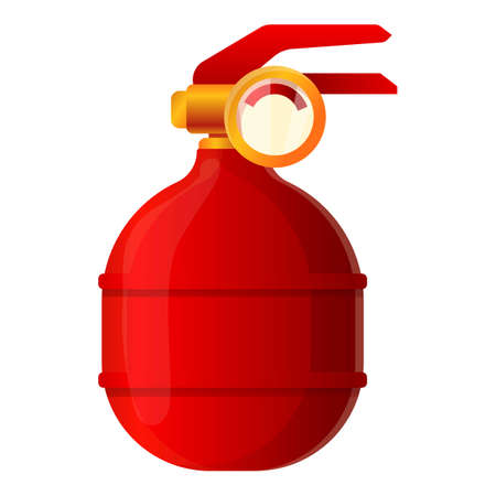 Car fire extinguisher icon, cartoon style