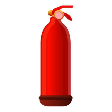 Handle fire extinguisher icon, cartoon style