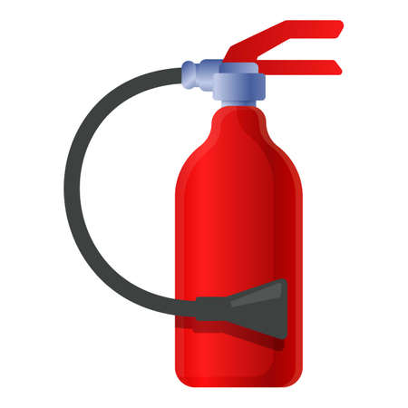 Fire safety extinguisher icon, cartoon style
