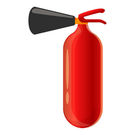 Spray fire extinguisher icon, cartoon style