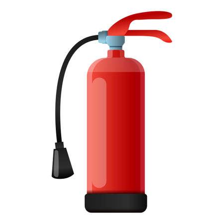 Dry powder fire extinguisher icon, cartoon style