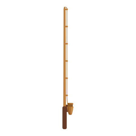 Fishing rod instrument icon, cartoon style Stock fotó