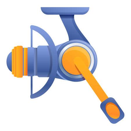 Recreation fishing reel icon, cartoon style Stock fotó