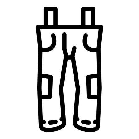 Ski pants icon, outline style
