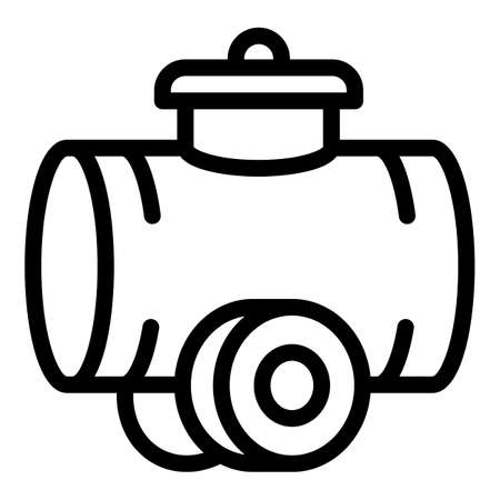 Tractor cistern icon, outline style