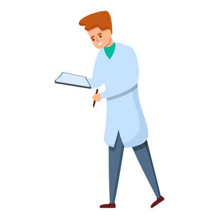 Professional sport doctor icon, cartoon style