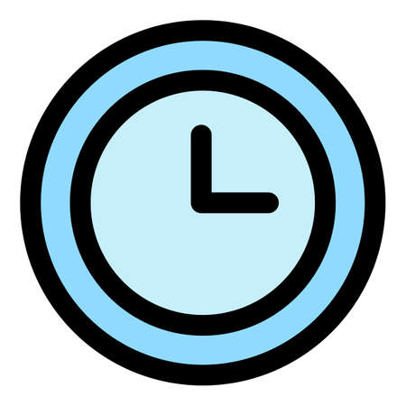 Home wall clock icon, outline style