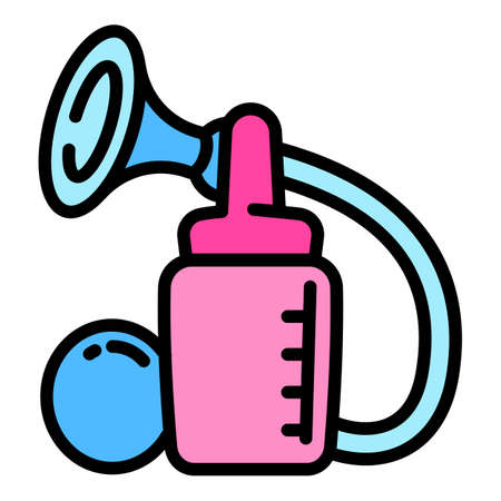 Breast milk pump icon, outline style