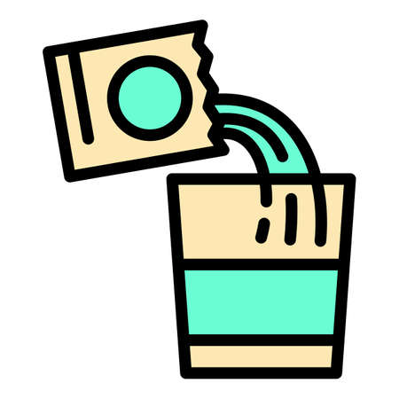 Flu powder package icon, outline style