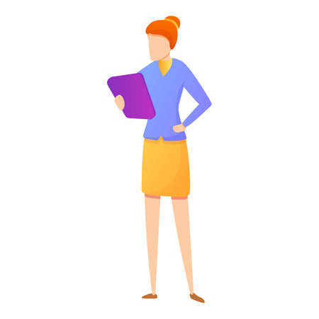 Woman office manager icon, cartoon style Stock fotó