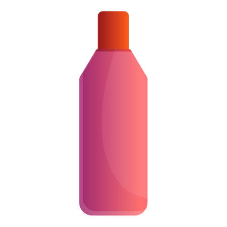 Conditioner bottle icon, cartoon style