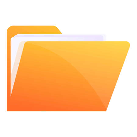 Storage documents file icon, cartoon style