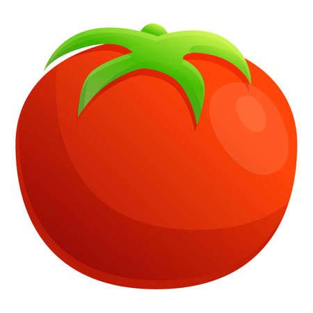 Farm eco tomato icon, cartoon style