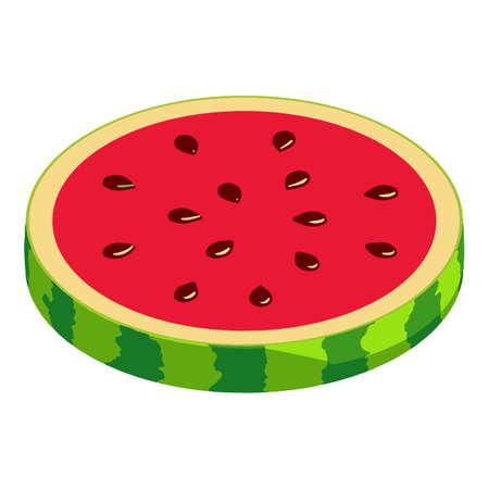 Watermelon icon, isometric style Stock fotó