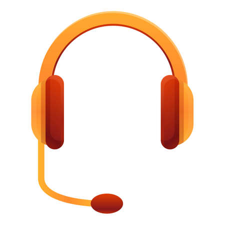 Home headset icon, cartoon style