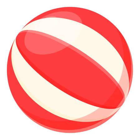 Summer party beach ball icon, cartoon style