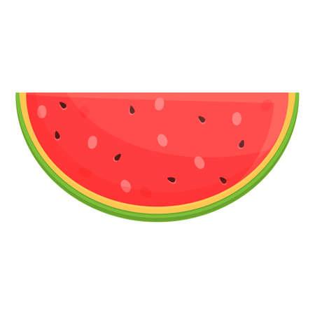 Summer party watermelon slice icon, cartoon style