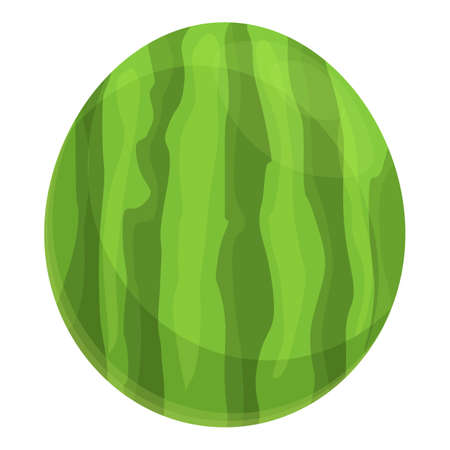 Summer party whole watermelon icon, cartoon style Stock fotó