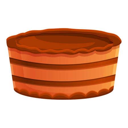 Baked cake icon, cartoon style