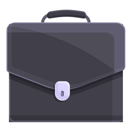Male briefcase icon, cartoon style