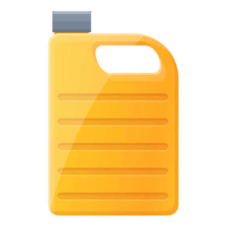 Canola oil canister icon, cartoon style