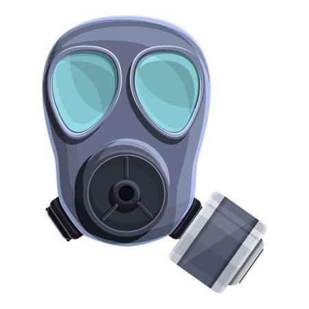 Equipment gas mask icon, cartoon style