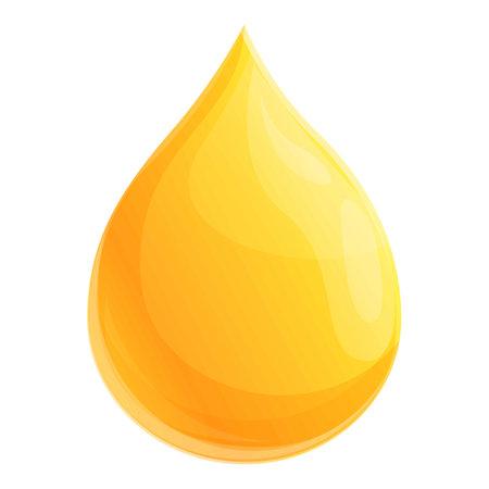 Canola oil drop icon, cartoon style