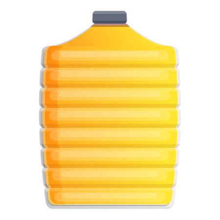 Canola oil big bottle icon, cartoon style