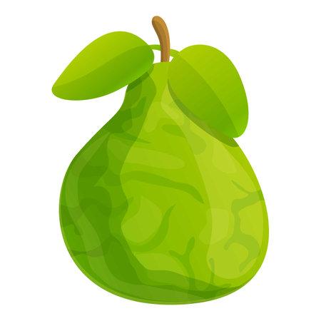 Eco bergamot icon, cartoon style