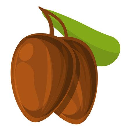 Shea tree nuts icon, cartoon style Ilustração