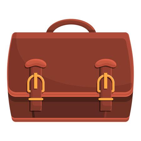 Hand briefcase icon, cartoon style