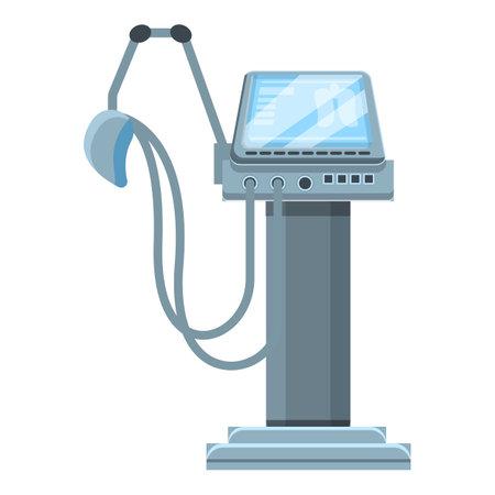 Examination ventilator medical machine icon, cartoon style