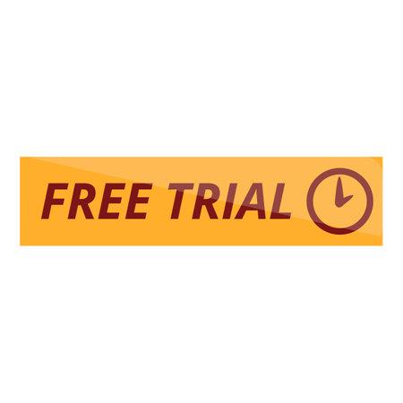 Free trial stopwatch icon, cartoon style Stock Illustratie