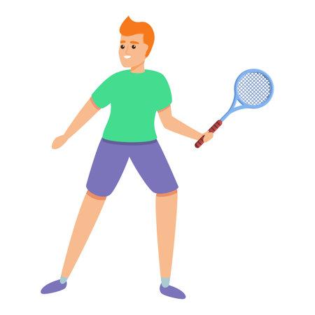 Sports child icon, cartoon style